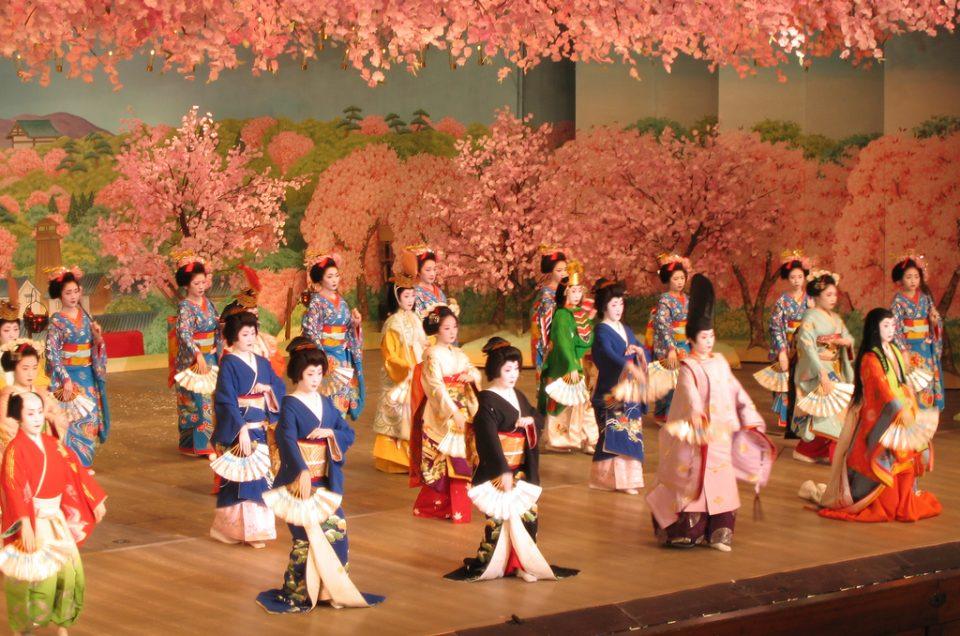Actuaciones de danza geisha