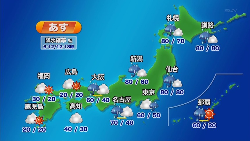 El clima de Japón